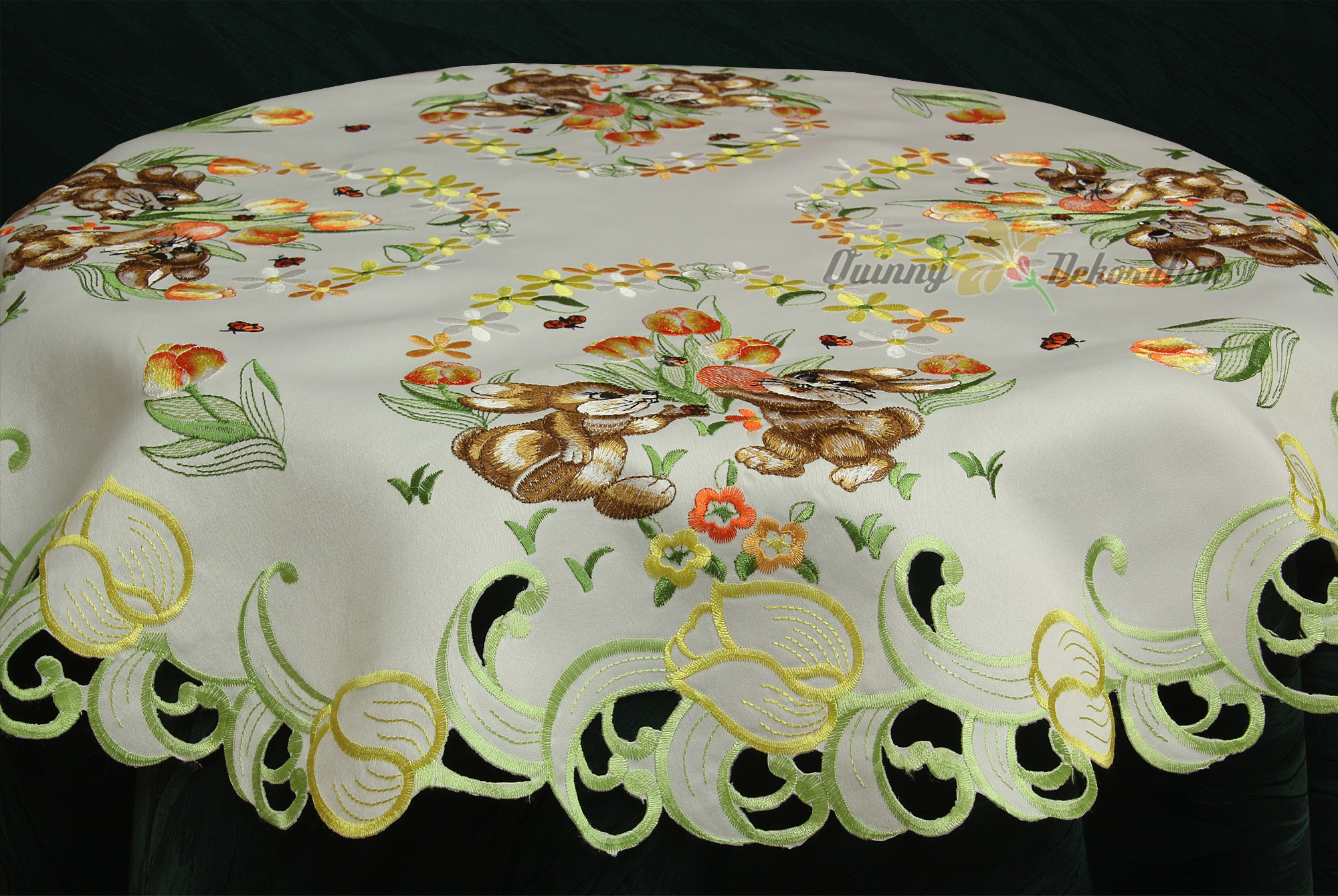 Easter Table runner Doily Tablecloth