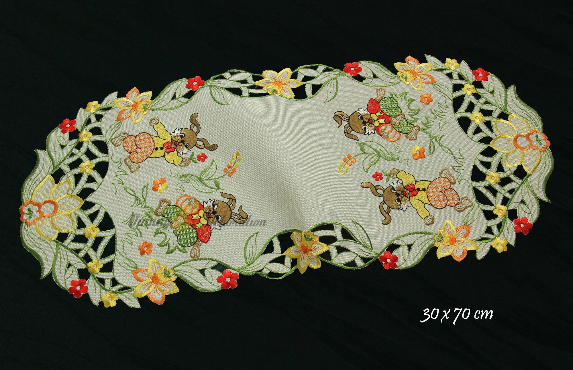 Easter Doily Table runner Tablecloth