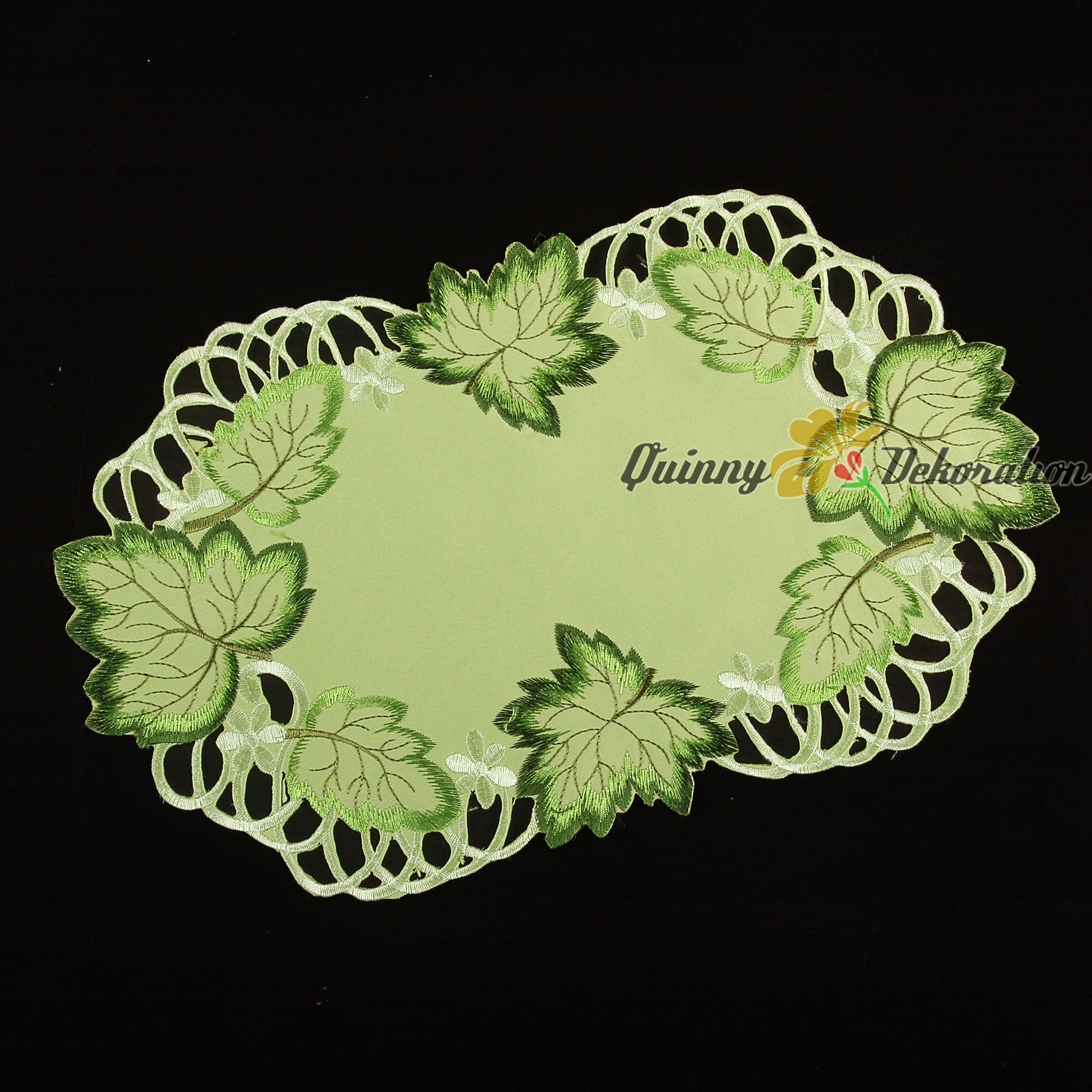Green leaf doily tablecloth table runner cover cloth