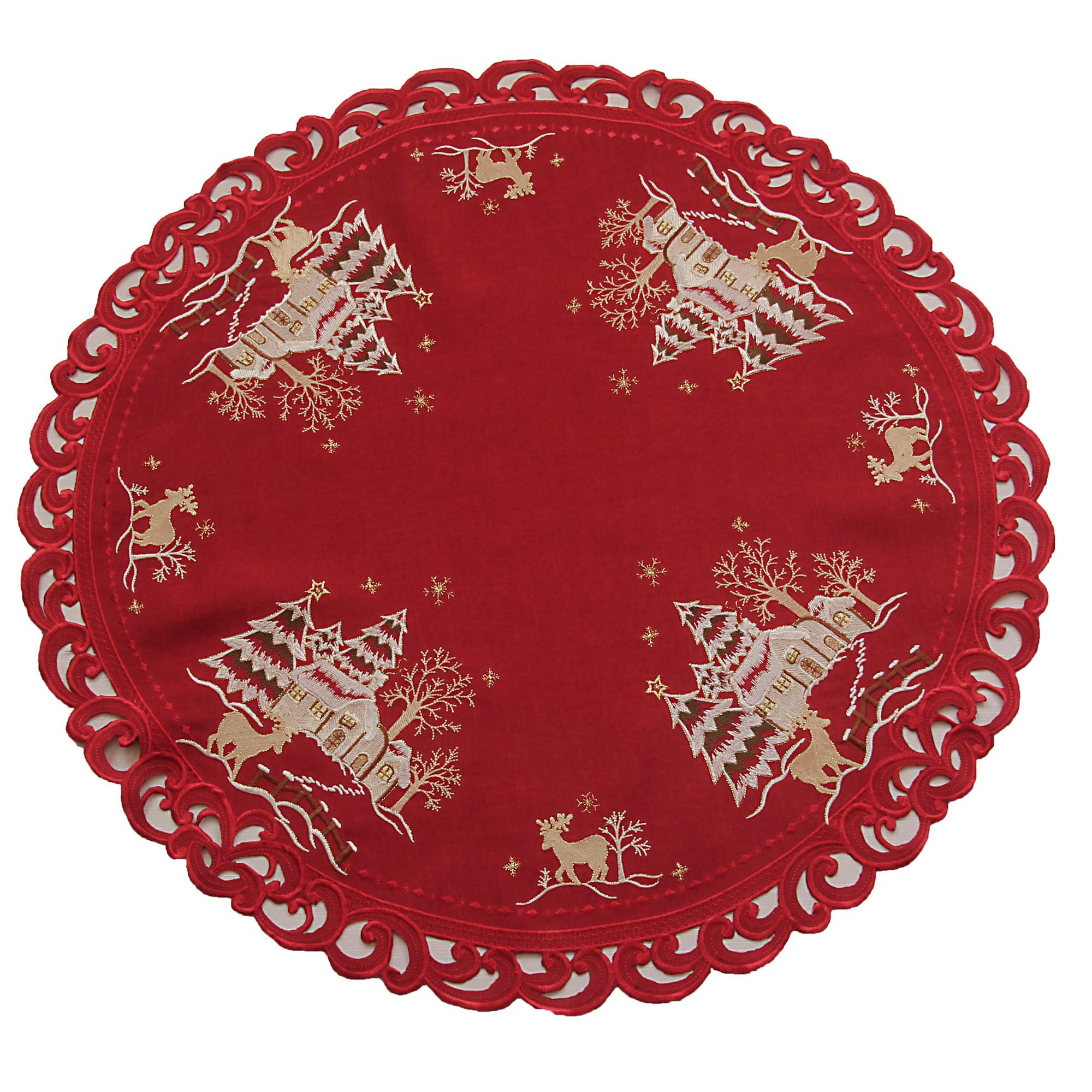 weihnachten tischl ufer tischdeckchen leinen optik wei. Black Bedroom Furniture Sets. Home Design Ideas