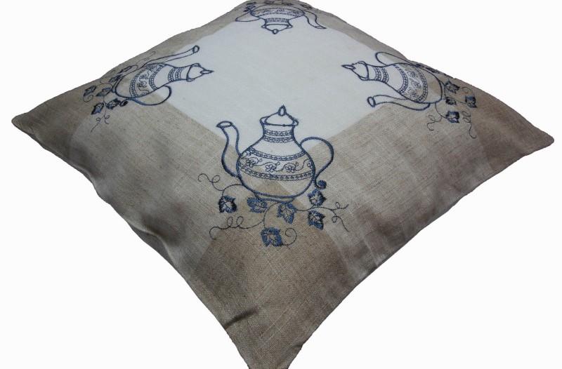 kissenh lle 40x40 cm halb leinen beige kissenbezug kanne. Black Bedroom Furniture Sets. Home Design Ideas