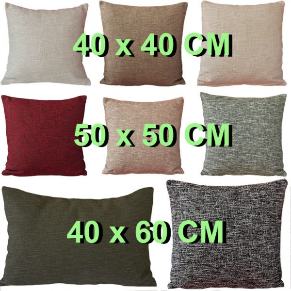 hochwertige kissenh lle leinenoptik 40x40 50x50 40x60 cm kissenbezug m farbwahl kissenh llen. Black Bedroom Furniture Sets. Home Design Ideas